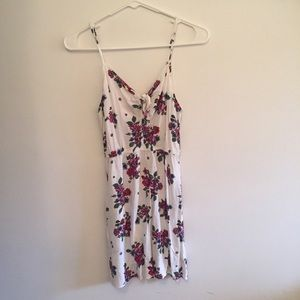 Floral White Strappy Dress